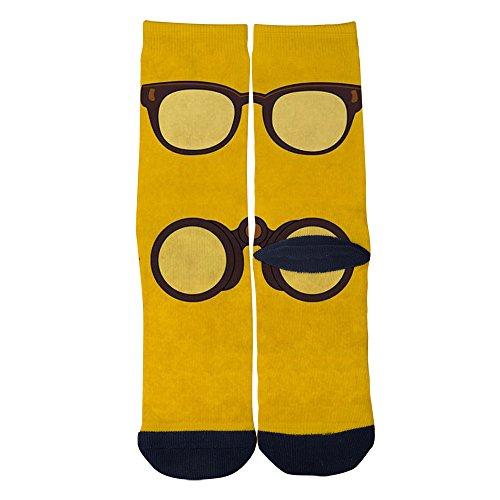 (TheFun-Z Custom Glasses and Telescopes Socks Novelty Funny Cartoon Crew Socks Elite Casual Socks Black)