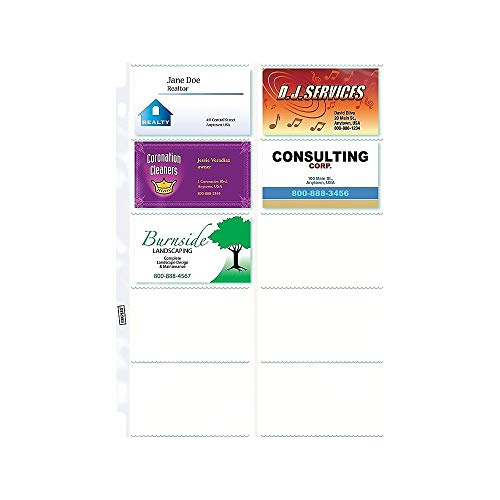 Staples Business Cards - Staples 413371 Untabbed Business Card Pages 10 Pack 10/Pack (15934)