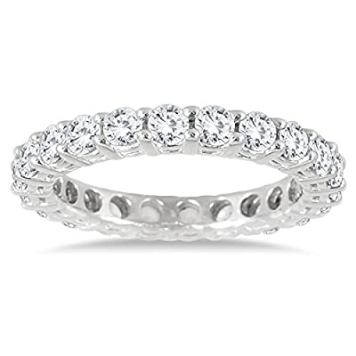 2 Carat TW AGS Certified 14K White Gold Diamond Eternity Band (K-L Color, I2-I3 Clarity)