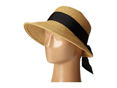 SCALA Women's Paper Braid Hat with Dimensional Brim, Tea, One - Hat Braid
