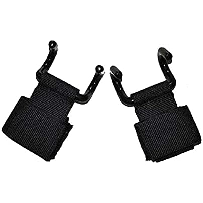 WANGYAN1886-Sports wristband 1pc Adjustable Strong Steel Hook Grips Straps Weight Lifting Strength Training Gym Fitness Wrist Support Lift Straps wrist straps Estimated Price £34.07 -