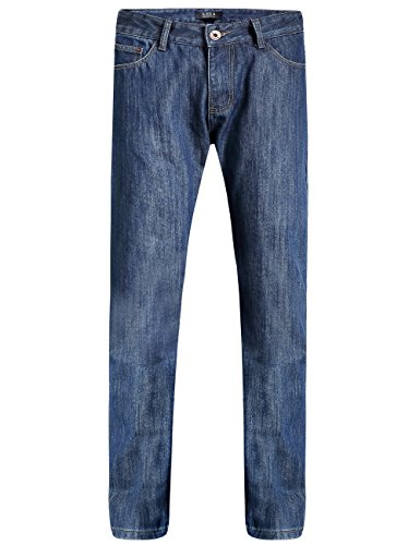 SSLR Men's Regular Fit Straight Leg Thermal Heavy Fleece Lined Denim Jean (W34  L32, Blue)
