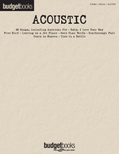 Acoustic Songbook: Budget Books (BudgetBooks)