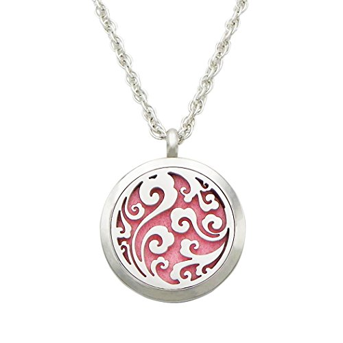 Rosemarie Collections Women's Stainless Steel Aromatherapy Diffuser Pendant Necklace (Openwork (Air Hostess Costumes Ideas)