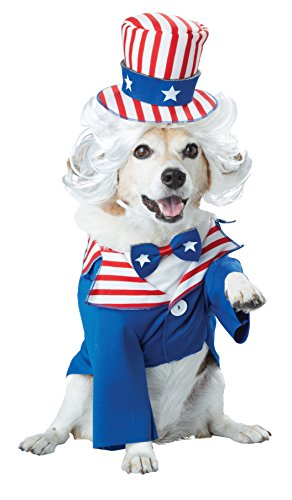 4th Of July Pet Costumes - California Costume Collections PET20147 Uncle Sam