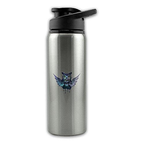 - Galaxy Owl Skull Wings Stainless Steel Layer Sports Water Bottle With Wide Mouth 24oz