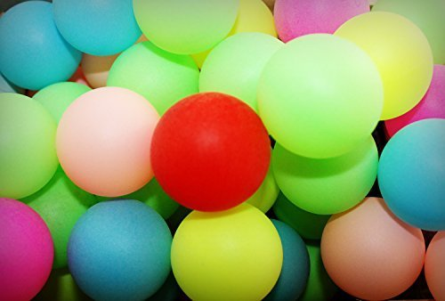 Small Plastic Balls - 50 Assorted Beer Pong Balls - Ping-Pong Balls Washable Plastic (Color)