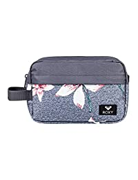 Roxy Beautifully Toiletry Bag, 24 cm, Grey (Charcoal Heather Flower Field)
