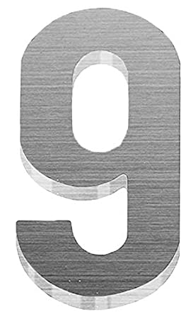 PEELCO Stainless Steel Brushed Aluminum Modern Acrylic 3M Tape Self Adhesive Silver House Numbers with Screws, 0 B079F1FS2P