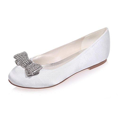 25 Flat L Chaussures Mariage De Round Femmes Head Pour Blanc Couleurs Et 9872 Disponibles Night Party Plus YC wqqr8cxnA7