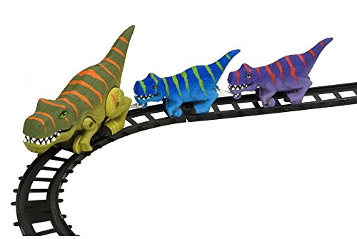 """Wild Republic T-Rex Express Train Set, Gifts for Kids, Requires one """"AA"""" battery, 9 piece - Train Gift Express"""