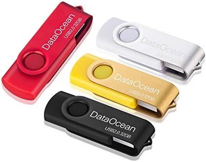 DataOcean 32GB Memorias USB 4 Piezas PenDrives Giratoria Pen Drive ...