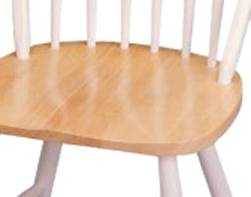 Winsome Wood Windsor Chair In Natural And White Finish, Set Of 2  (B000NPSHCA)