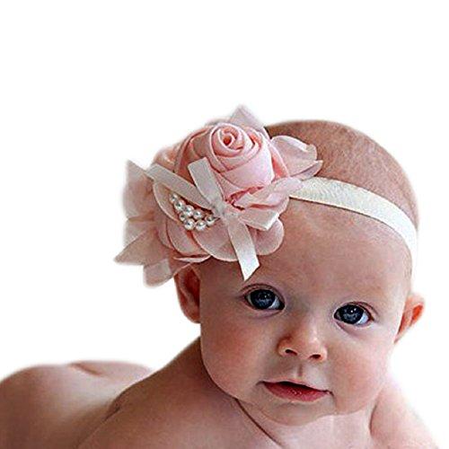 FEITONG(TM) strass belle ange inhabituelle filles bébé perles fleurs Hairband bandeaux