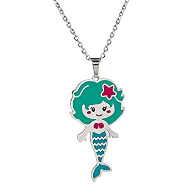 Vinjewelry Little Girls Beautiful Pendant Necklace for Children's Delicate Gift