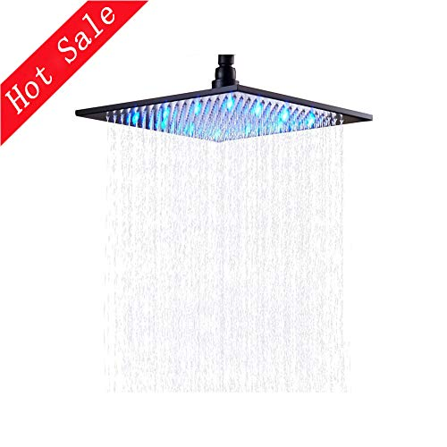 Square Rain Shower Head Wall Mounted,Ceiling Mounted Top Shower Sprayer (Oil Rubbed Bronze) ()