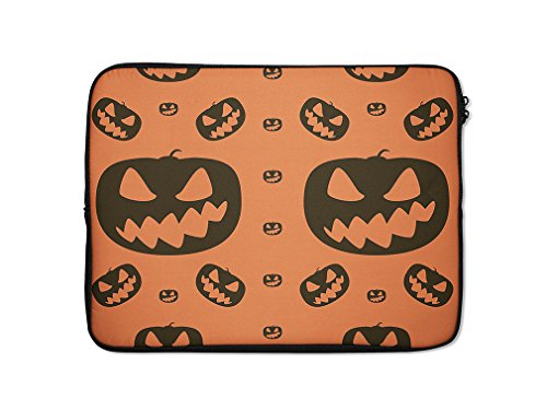 Style in Print Halloween Background Pumpkins Computer Lap...
