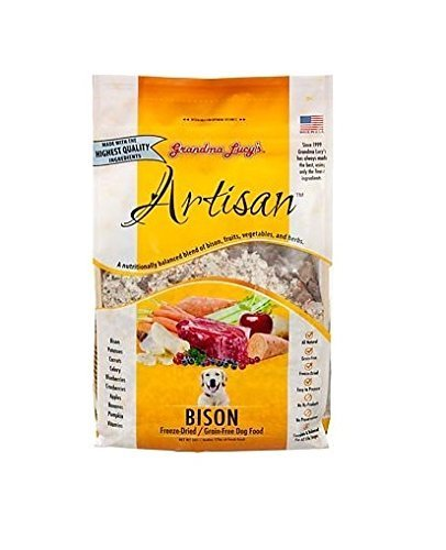 Grandma Lucy's Grain Free Bison, Freeze Dried Dog Food, 3 lb. Bag. Fast Free Delivery