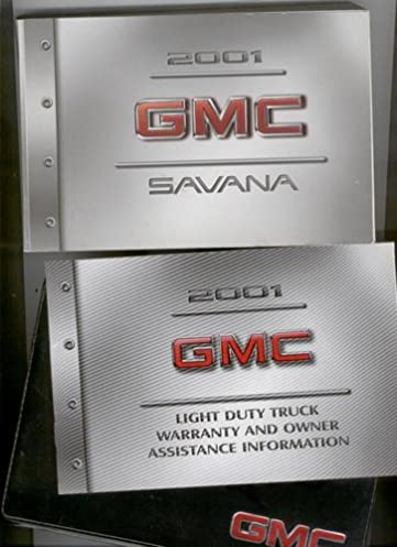 2001 gmc savana owners manual gmc amazon com books rh amazon com 2001 GMC Savana 1500 Conversion 2001 gmc savana van owner's manual