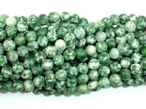 (Green Spot Jasper Beads, Round, 6mm, 15.5 Inch, (243054002) Crafting Key Chain Bracelet Necklace Jewelry Accessories Pendants)