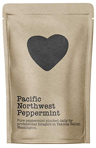 (Pacific Northwest Peppermint, 15-20 Servings, Eco-Conscious Zip Pouch, Caffeine Free, Pure Loose Leaf Tea Grown in America)
