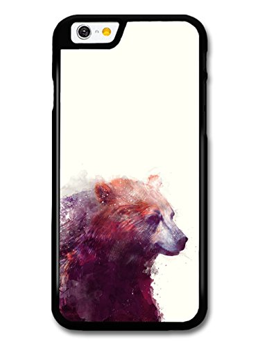 Bear Illustration on White Background, Beautiful Hipster coque pour iPhone 6 6S