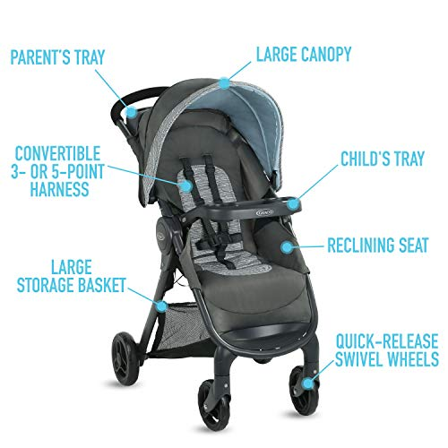 Graco FastAction SE Travel System | Includes FastAction SE Stroller and SnugRide 30 LX Infant Car Seat, Carbie