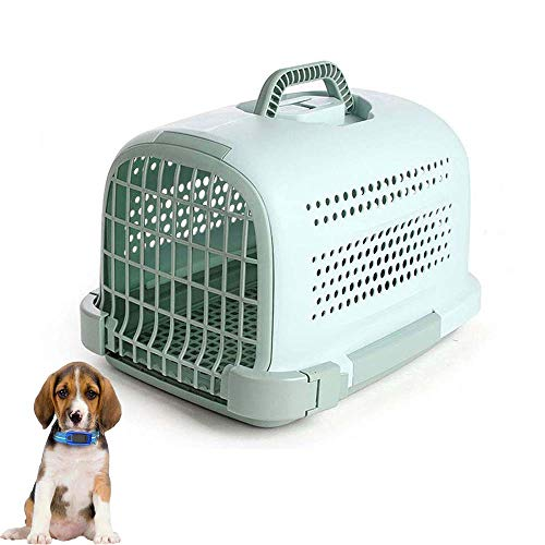 FXQIN Hard-Sided Pet Carrier Crate, Airline Approved Cat and Dog Carrier Cage, Portable & Lightweight, Stress-Free Assembly, Green