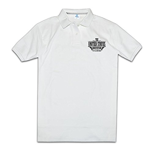 The United States Constitution - All Rights Reserved Men's Polo Style XXL White ()