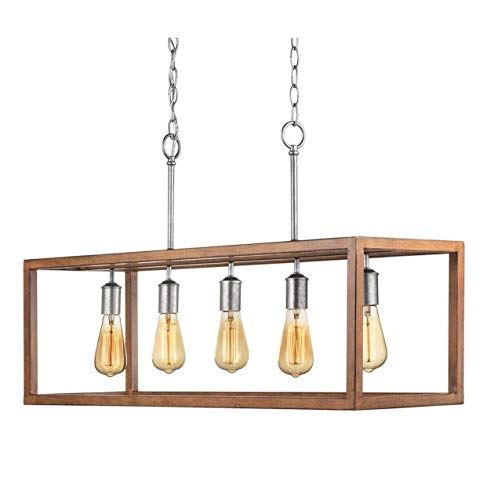 Home Decorators Collection Boswell Quarter 5-Light Galvanized Island ()