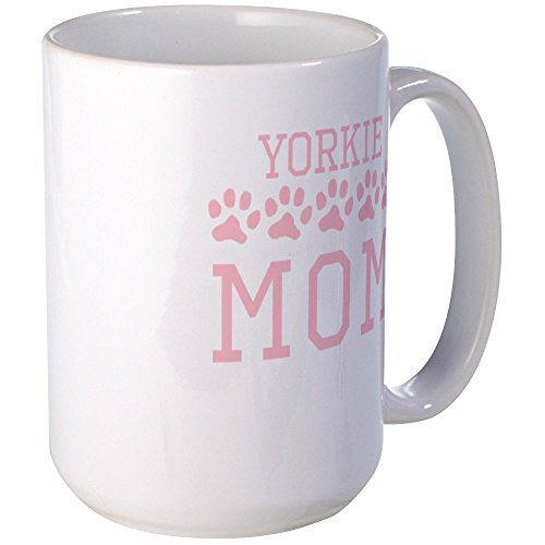 CafePress - Yorkie Mom Mugs - Coffee Mug, Large 15 oz. White Coffee Cup