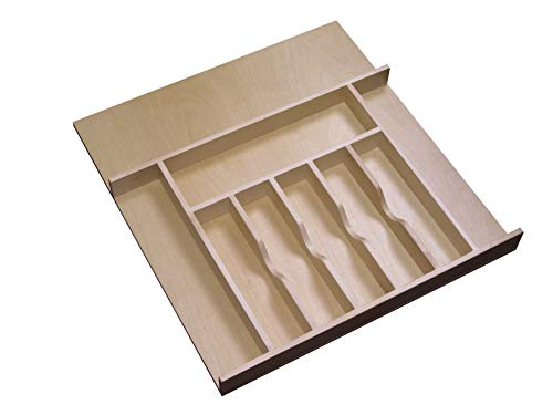 - Rev-A-Shelf - 4WCT-3SH - 2-3/8 in. Large Cabinet Drawer Wood Cutlery Tray Insert