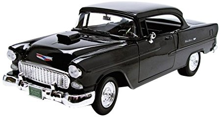 - Motormax 1:18 1955 Chevrolet Bel Air Hard Top Custom Vehicle, Assorted