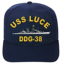 Luce Cap (USS LUCE DDG-38 EMBROIDERED SHIP)
