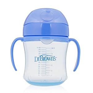 Dr Brown 's suave boquilla Copa infantil con asas, color azul