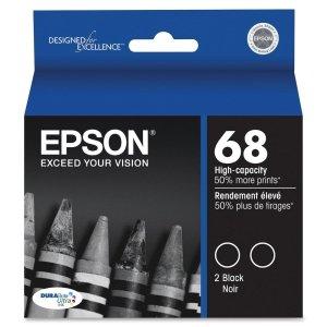 Epson T068120-D1 Ink Cart Hi capacity Dual Pack-Black