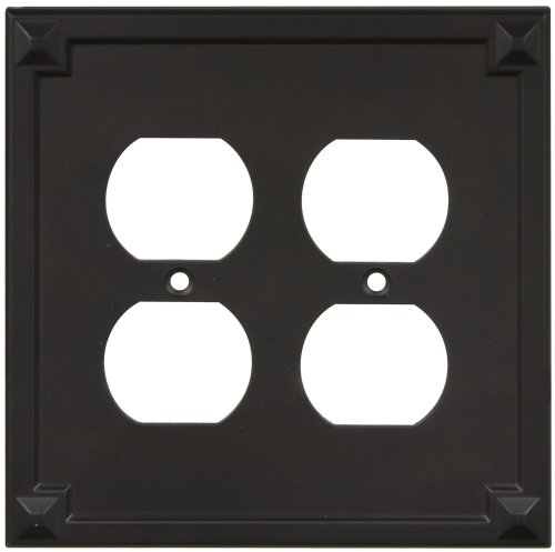 National Hardware S803-718 V8063 Prairie Double Outlet plates in Oil Rubbed Bronze