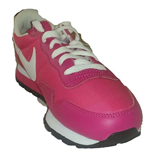 690f1615e89 Nike Youth Girls Metro Plus Running Shoes Classic Spark White Voltage Cherry