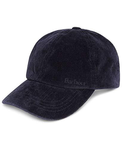Barbour Men's Cap Navy One Ayton Sports Corduroy Adjustable Blue One Size (Barbour Cap)