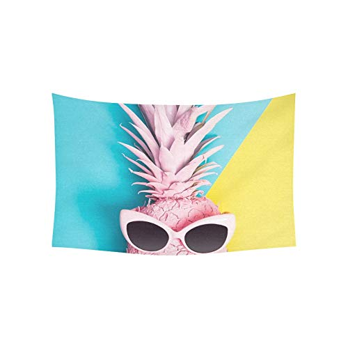 WUTMVING Tapestry Painted Pineapple Sunglasses On Vibrant Duotone Tapestries Wall Hanging Flower Psychedelic Tapestry Wall Hanging Indian Dorm Decor for Living Room Bedroom 60 X 40 ()
