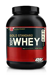 Whey Gold-Optimum Nutrition Instantized Whey Protein, 5lb Delicious Stra...