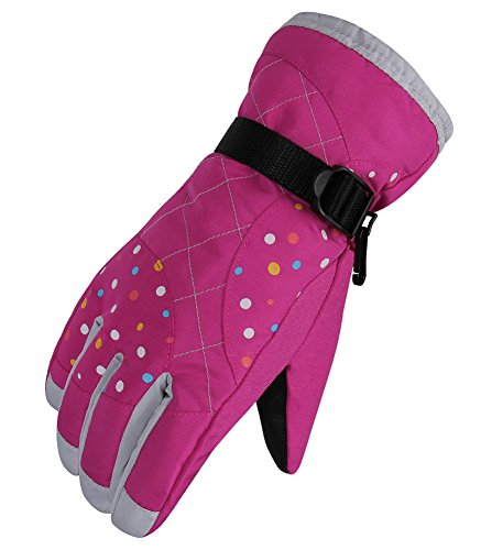 WATERFLY Fashion Women's Femal Warm Waterproof Winter Outdoor Glove Cycling Gloves Biking Gloves Snowmobile Snowboard Ski Gloves Athletic Gloves Mittens
