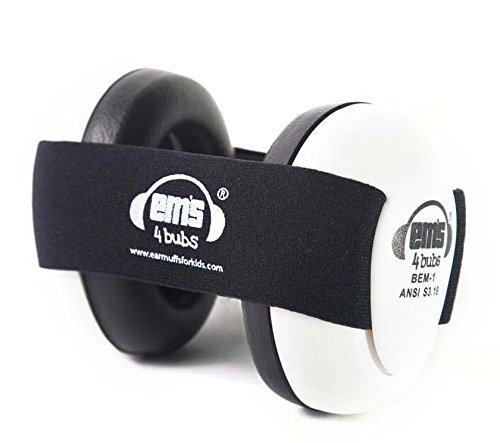 17 opinioni per Em's 4 Bubs- Protezione acustica per bambino, 0-18 mesi Black
