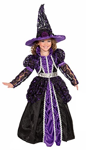 Custom Girls Halloween Costumes (Forum Novelties Designer Collection Deluxe Pandora The Witch Costume, Child Large)