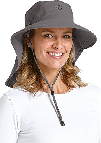 Coolibar UPF 50+ Women's Ultra Sun Hat - Sun Protective (One Size- Carbon)