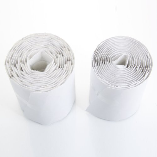 """MicroMall(TM) White 1000pcs 3/4"""" Diameter Velcro Sticky Back Coins Hook & Loop Adhesive Tapes"""