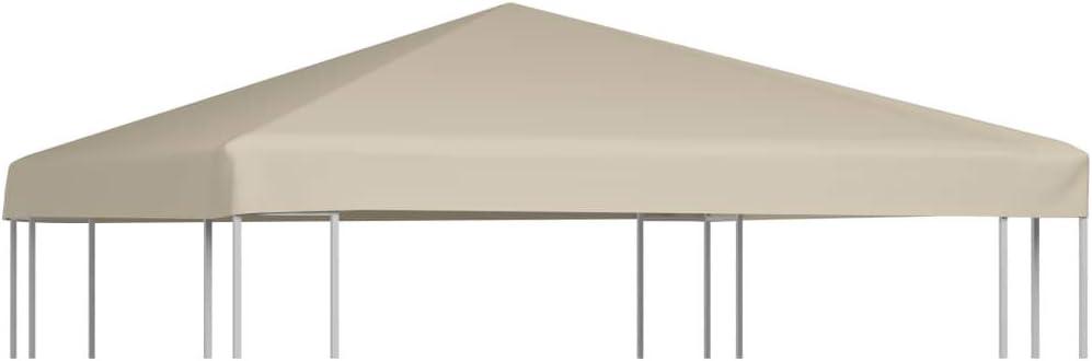 vidaXL Toldo de Cenador 2 Niveles 310 g/m² 3x3 m Beige Pabellón Patio Casa