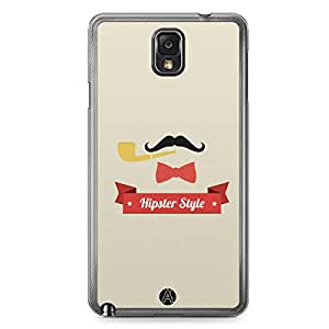 Designer iPhone Samsung Note 3 Tranparent Edge Case - hipster