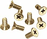 CRL Satin Brass Phillips 6 mm x 12 mm Cover Plate Flat Head Screws - Package