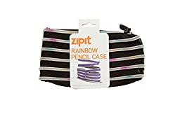 ZIPIT Rainbow Pencil Case, Black